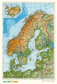 Geographical Map Of Europe large physical map of scandinavia in russian sweden europe