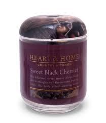 large jar candle sweet black cherries heart u0026 home