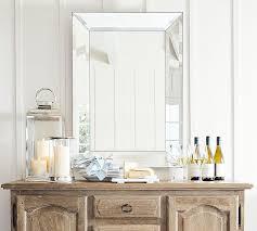 bevel rectangular mirrors pottery barn