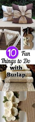 25 unique burlap decorations ideas on diy projects