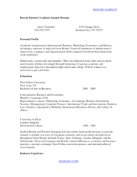 resume for college graduates cover letters for recent graduates communication marketing