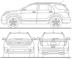 Ford Explorer 2015 - the blueprints com blueprints u003e cars u003e ford u003e ford explorer 2015