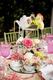 Bridal Shower Centerpieces Love Ly Tea Party Bridal Shower Vintage Lace Pastels