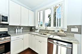 kitchen with subway tile backsplash light gray subway tile backsplash beveled edge subway tiles with