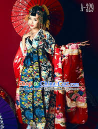 japanese traditional geisha kimono dress complete set for women