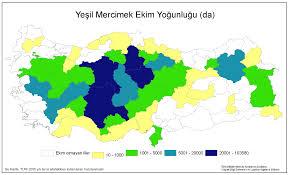 Usf Map Türkiye Yeşil Mercimek Ekim Yoğunluğu Haritası Planting Density