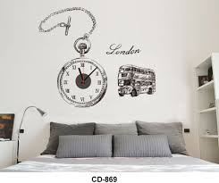 seller creative diy three dimensional wall sticker clock home cd 869 wallclock wall sticker best quality best