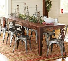 farmhouse table with metal chairs farm table and chairs idea icifrost house awesome 4 ideas
