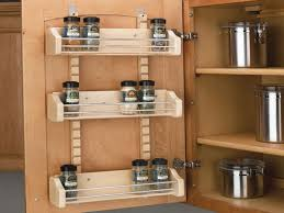 refrigerator small spaces cabinet door spice rack wall spice rack