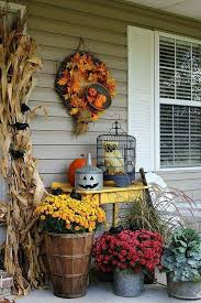 Decorate Outside Bench Christmas by Best 25 Fall Porches Ideas On Pinterest Fall Front Porches