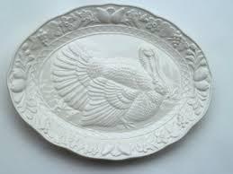 ceramic turkey platter festive vintage thanksgiving turkey platter embossed platter