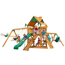 backyard discovery woodland all cedar playset 6014com the home depot