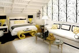 Red White And Black Bedroom - modern home decor accessories black white and yellow bedroom
