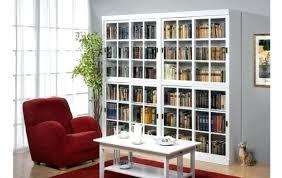 bookcase with sliding glass doors images doors design ideas