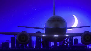 Louisiana travel videos images Cairo egypt airplane take off moon night blue skyline travel stock resiz