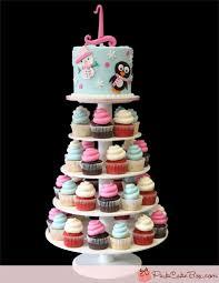 cupcake birthday cake 1st birthday winter cupcake tower childrens cakes