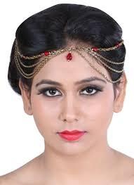 designer hair accessories sannam chopra regal ruby hair chain shop pieces at