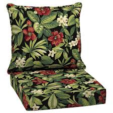Garden Treasures Patio Chairs Shop Garden Treasures Black Floral Glenlee Tropical Deep Seat