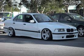 bmw e36 ac schnitzer alpine white e36 sedan on some monoblock rh ac schnitzer type 2