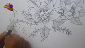 Pencil Sketch Of Flower Vase Pencil Drawing Of Flower Basket How To Draw A Flower Vase With Oil