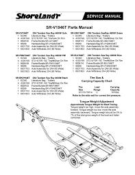 shoreland u0027r sr v1946t user manual 4 pages