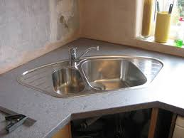 Stainless Steel Corner Kitchen Sink But In An Over Mount Design - Corner undermount kitchen sink