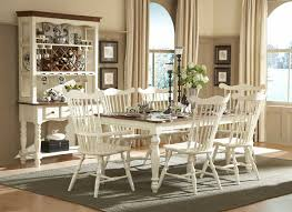 Country Style Dining Room White Furniture Country Style With Haed Wood Counter Table On Gray