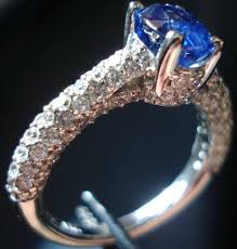 all diamond ring blue diamond ring cost weddings