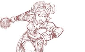 warrior princess sketch by travisjhanson on deviantart