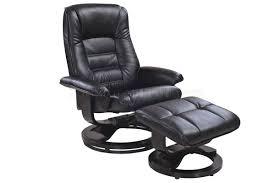 Modern Recliner Chair Savuage Black Bonded Leather Modern Recliner Chair W Ottoman