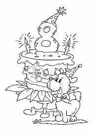 free happy birthday coloring pages jerzy decoration