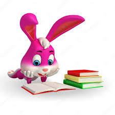 easter bunny book easter bunny is reading a book stock photo pixdesign123 43095341