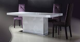 Lacquer Dining Room Sets Cozy Rectangle Modern Laminated Wood White Lacquer Dining Table