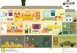 Planner 5d Home Design Download Cartoon Family House Stock Vector Image 51915252