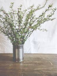 Tin Flower Vases A Daily Something Celebrate Flowers In Tin Cans