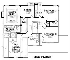 second floor plans country home with 3 bdrms 2489 sq ft floor plan 104 1062