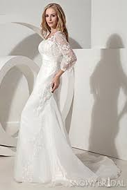 modest wedding dresses with 3 4 sleeves 3 4 length sleeve lace wedding dress snowybridal com
