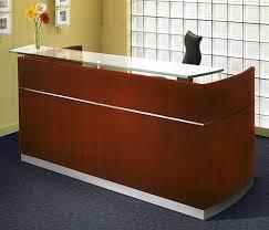 Reception Station Desk Mayline Napoli Series Glass Accented Modern Guest Reception Desk Nrsbb