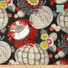 campari art hand made waverly copacabana retro floral linen in campari black