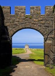 wedding arch northern ireland downhill demesne mussenden temple northern ireland wedding