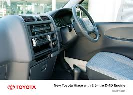 toyota hiace interior fresh face new engines for toyota hiace toyota uk media site