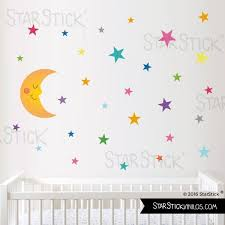 stickers étoiles chambre bébé sticker enfant stickers lune étoile