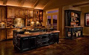 kraftmaid kitchen island rustic birch kitchen in praline and cherry in vintage onyx kraftmaid