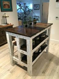 distressed island kitchen reclaimed wood distressed kitchen island by lostdogwoodworks