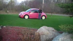 used pink volkswagen beetle pink beetle present youtube