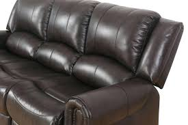 abbyson living bradford faux leather reclining sofa faux leather loveseat button tufted back wood legs rose gold faux