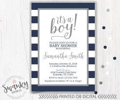 boy baby shower invitations navy and gray baby shower invitations boy baby shower