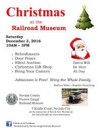 christmas at the railroad museum nevada city california