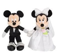 mickey and minnie wedding disney parks mickey minnie mouse groom wedding plush doll