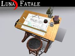 Drafting Table With Light Box Second Life Marketplace Couples Animated Drafting Table